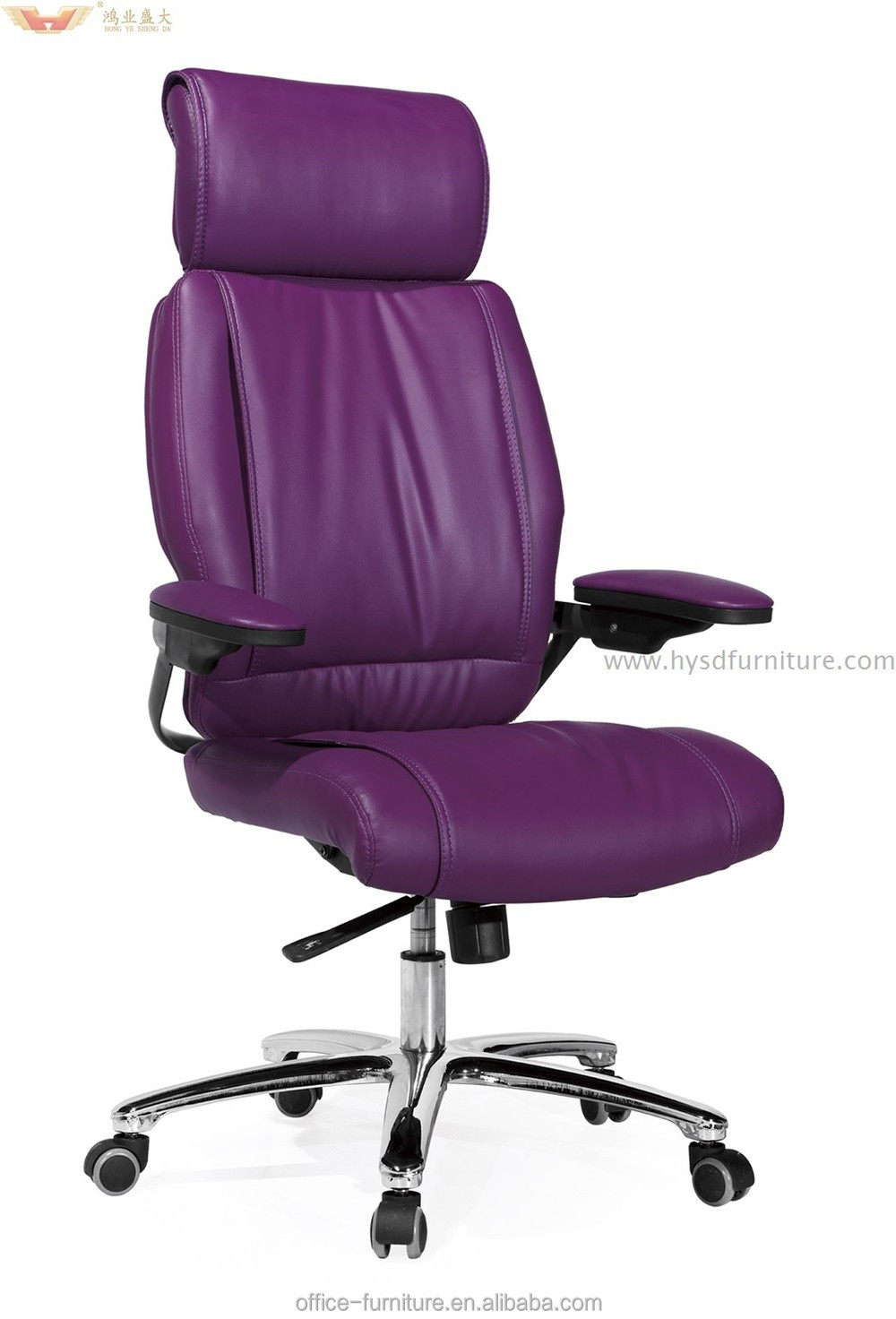 Hot Sale High Quality Commercial Purple Leather Modern Office Chair Design Buy Hot Sale Office Chair Office Furniture Purple Leather Office Chair Commercial Office Chairs Product On Alibaba Com