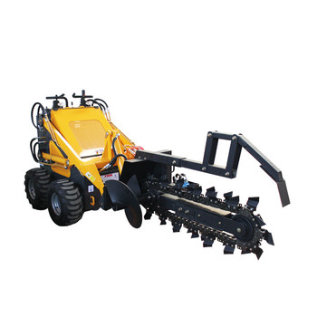 Chinese CE certificated 23HP skid steer mini trencher for sale