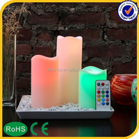 New Promotion advertising cheap rechargeable electric tea light led candle
