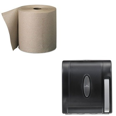 KITGEP26301GEP54338 - Value Kit - Georgia-Pacific Vista 54338 Black Hygienic Push Paddle Roll Paper Towel Dispenser (GEP54338) and Georgia Pacific Nonperforated Paper Towel Rolls (GEP26301)
