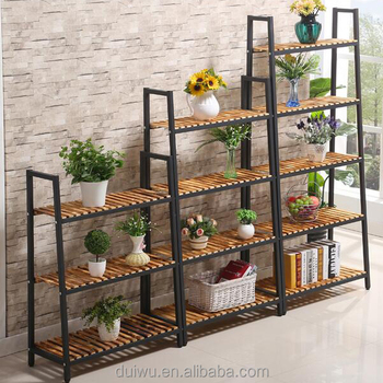Chinese manufacturer size customized plant shelf for decoration
