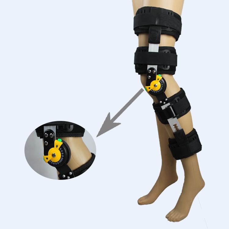 आर्थोपेडिक निर्धारण समायोज्य घुटने संभालो hinged घुटने समर्थन पट्टी स्टेबलाइजर लपेटें मोच पोस्ट-सेशन Hemiplegia
