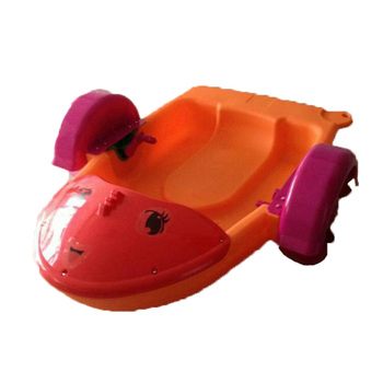 new design hand powered operated paddle wheel boat plastic kids
