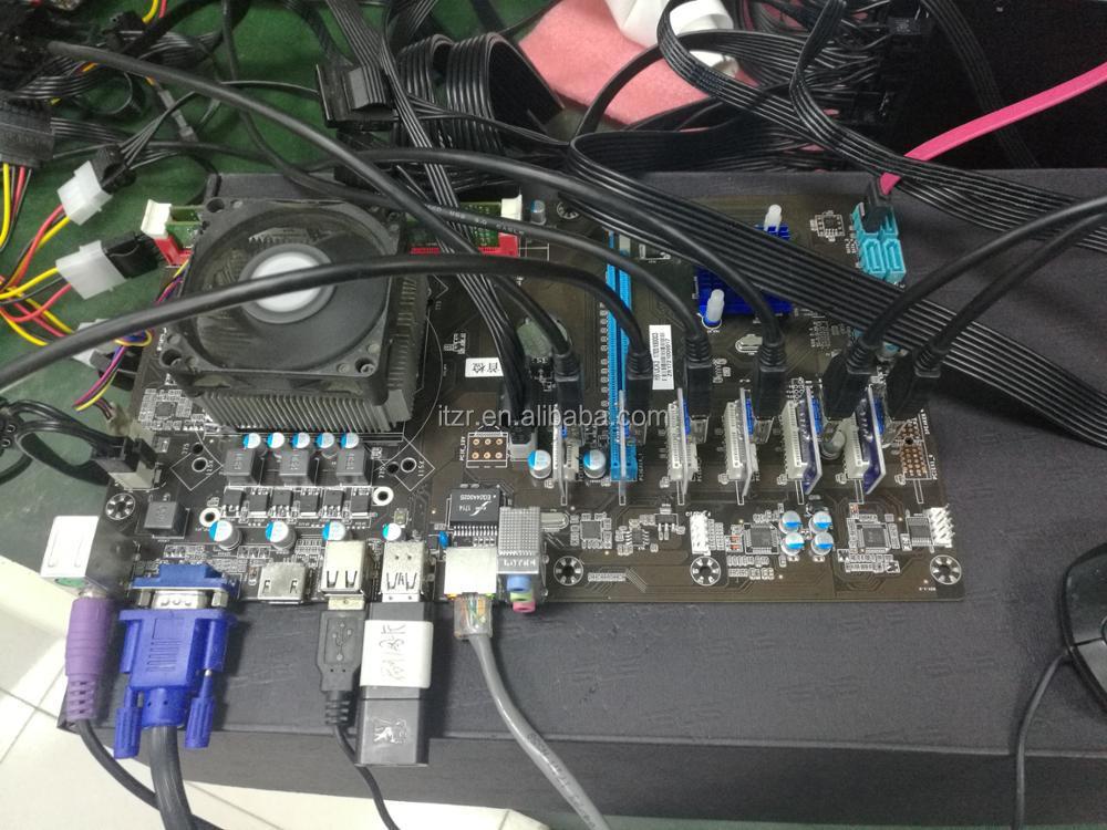 Esonic Intel H81-BTC-king for Bitcoin Miner , H81 PRO BTC 6 GPU , Mining  motherboard asic miner for Bitcoin,DaS,Litecoin,Monero, View BTC, Esonic