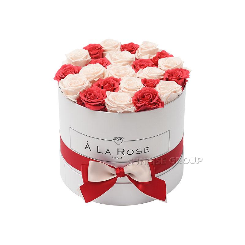 Waterproof Paper Rose Packaging Hat Flower Hamper Box