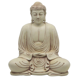 antique style stone carving white gautam garden buddha marble statue