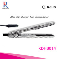Bling bling high end rhinestone embellished rechargeable car charger hair straightener