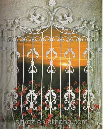 Euramerican wrought iron window grill/window fence / window guard designs