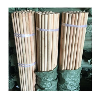 Straight raw material Natural Wooden broom handles / wooden stick for broom