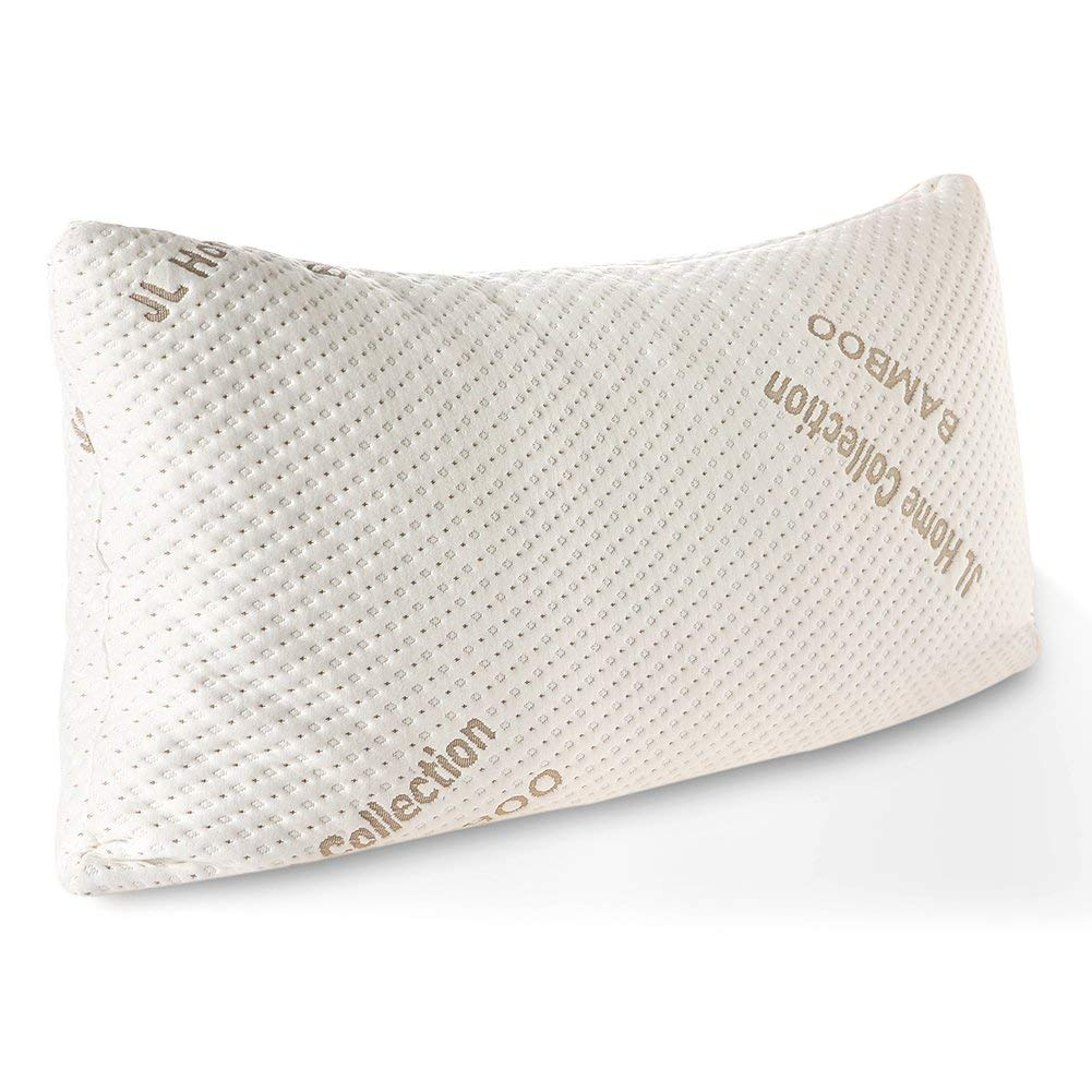 Get quotations · jl home collection bed pillows for sleepingadjustable loft shredded original memory foam pillow with