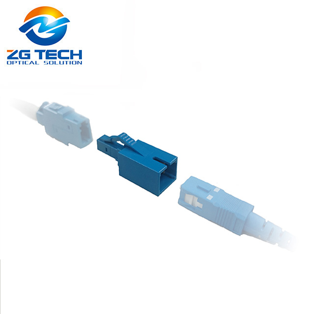 Plastic LC female to SC male optical fiber adapter