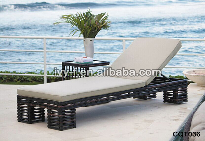 Outdoor Pool Side Fabric Sling Chair Sun Lounger Aluminium