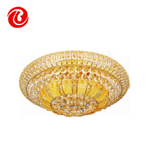 High quality China factory modern round antique iron crystal ball ceiling chandelier lighting