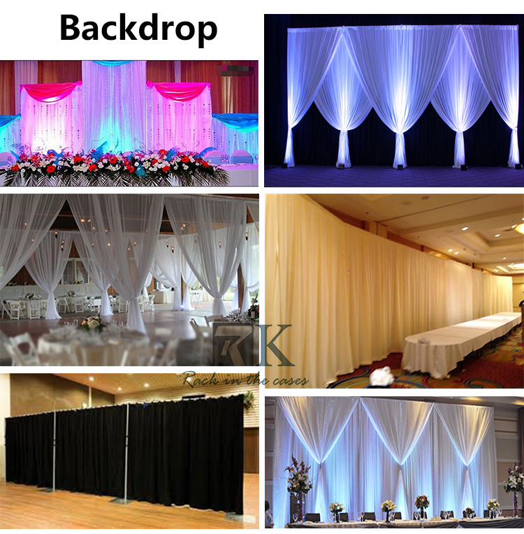 Stand pole pipes and drapes concet stage backdrop curtain event marriage decoration curtain barrier
