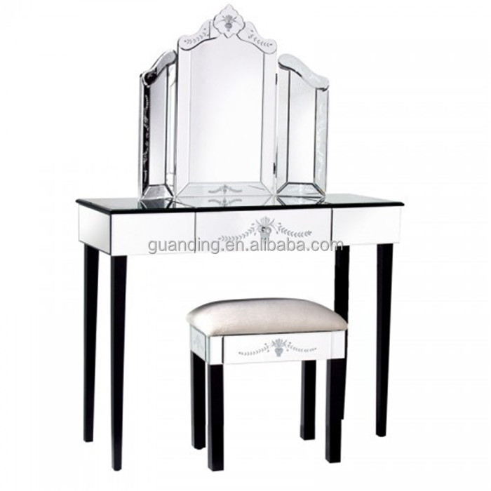 Venetian Mirrored Dressing Table Console Furniture Wholesale ...
