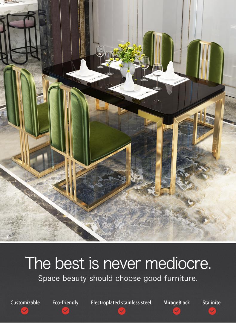 Vidro Temperado Mesa de Jantar de luxo