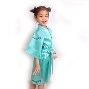 512092d20 Bridal Party Flower Girl Solid Colors Satin Robes - Buy Kids Spa ...