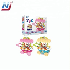 2018 new Food cookingToy BBQ grill kids kitchen set toy with light sounds
