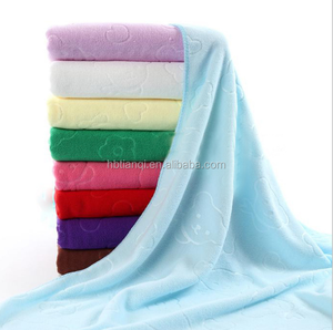 promotion product super cheap absorbent microfiber fabric 100 polyester bath towel