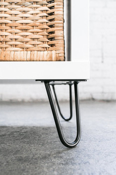 6 Inches Furniture Legs Metal Iron 2 Rod Hairpin Cabinet Legs For Wholesale