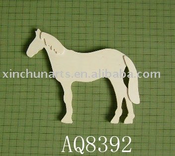 hand carved wood horse/wood toy horse/carved jade horse