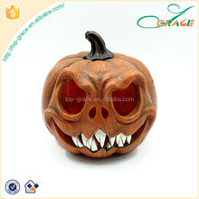 Factory cheap scary polyresin party decoration halloween pumpkin