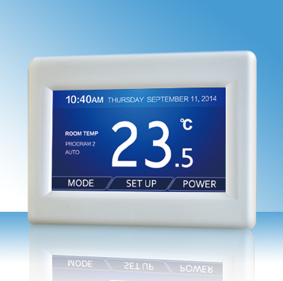 Color touch screen programmable electric blanket thermostat controller