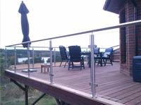 304/316 glass balustrade holder for handrail system