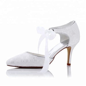 2018 design sexy lady fashion bridal wedding shoes lace shoes