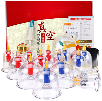 16 Cups Set Acupuncture Needles Massage Equipment Tools Chinese Cupping Massage Therapy Set Hijama Cupping Cup