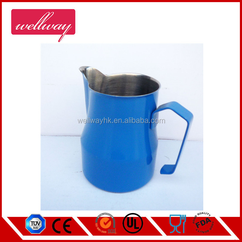 Colorful Stainless Steel Professional Milk Pitcher/Jugs for Espresso Machine