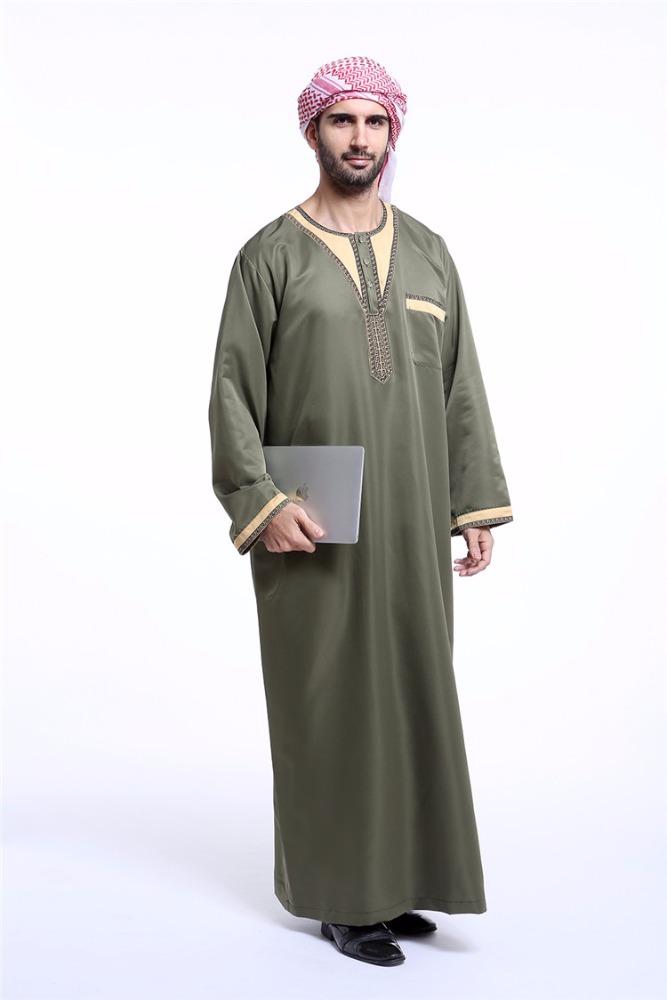 Manufacture Men Saudi Style Thobe Abaya Mens Robe Daffah Dishdasha ...