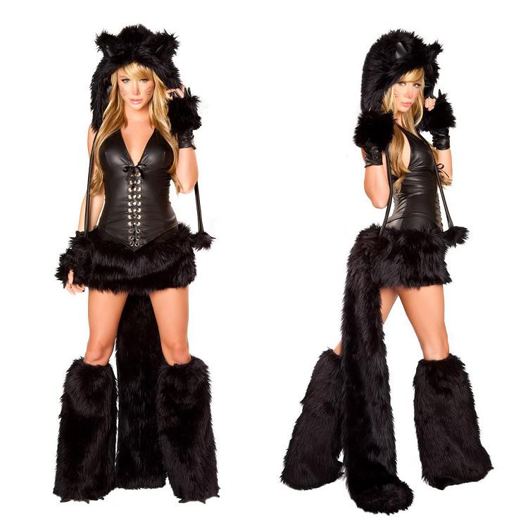 Buy Newest Deluxe Black Cat Costume For Women Black Cosplay