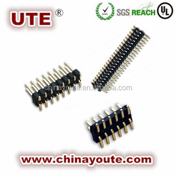 1,27 stiftleiste smt pcb und adapter rechtwinklig smt art pin-header