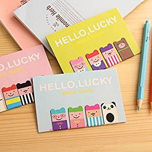 Katoot@ 6 set/lot Cartoon animal Magnetic bookmarks for books Kawaii metal paper holder korean stationery school supplies zakka