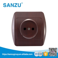 Switch Manufacturers wall mounted power outlet socket, wall socket European, 1 gang 2 pin socket