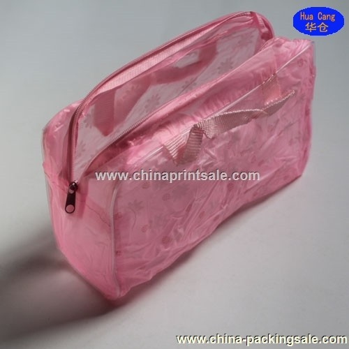 Good quality and best selling pink pvc bag with ziplock