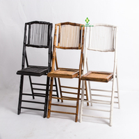 Hot sale bamboo folding chair for event
