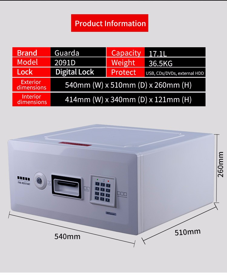 Wholesale 1 hour fireproof safe white for business for company-6