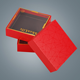 custom red square cardboard flower rose boxes with clear window