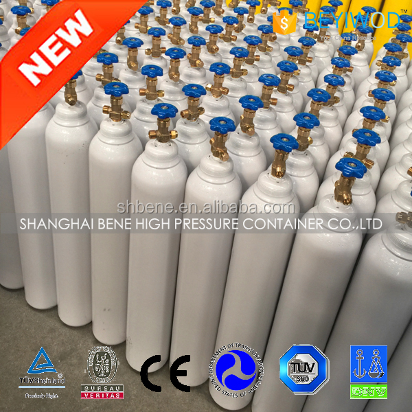portable high pressure low price steel argon nitrogen oxygen co2 gas cylinder with EN-ISO9809 standard