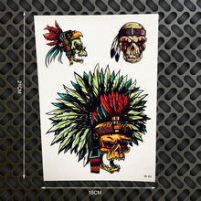 1PC Hot Removable Indian Totem Warrior Designs Transfer Tatoo Stickers GHB353 Knight Feather Temporary Tattoo Body Art Armband