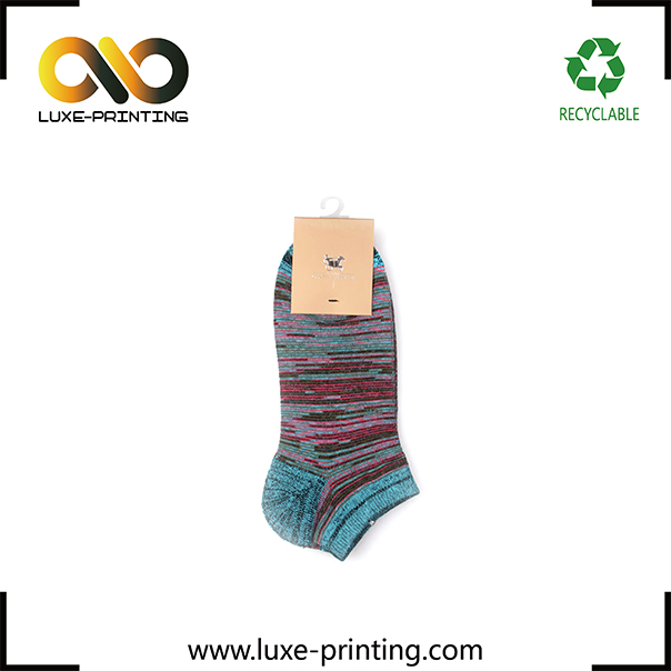 Quality first custom paper label printing china hang tag for socks