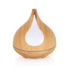 Wall Mounted 300ml Ultrasonic Wood Aroma Therapy Oil Diffuser, Plastic 300 ml Aroma Essential Wholesale Aromatherapy Humidifier