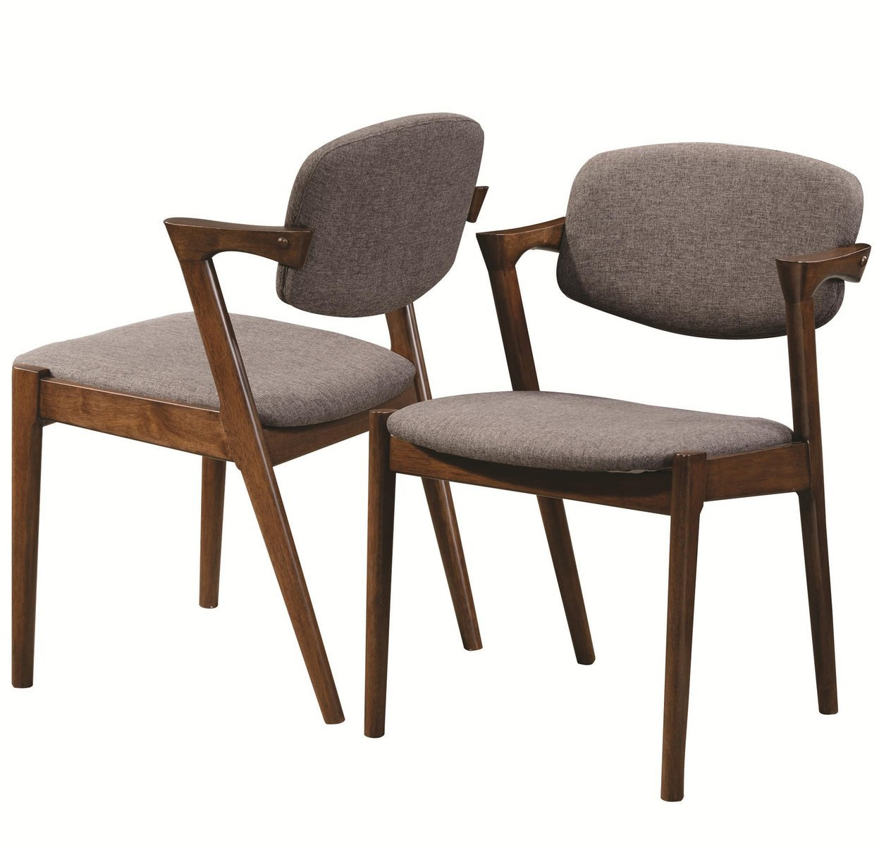 Coaster Malone Mid-century Casual Dining Room Set with Dining Table and 6 x Side Chair
