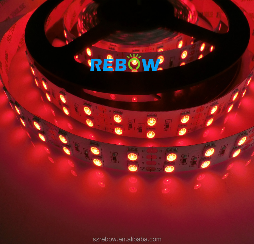 CE/RoHs RGB Double led light strip 5050 120led/M 2 row string light