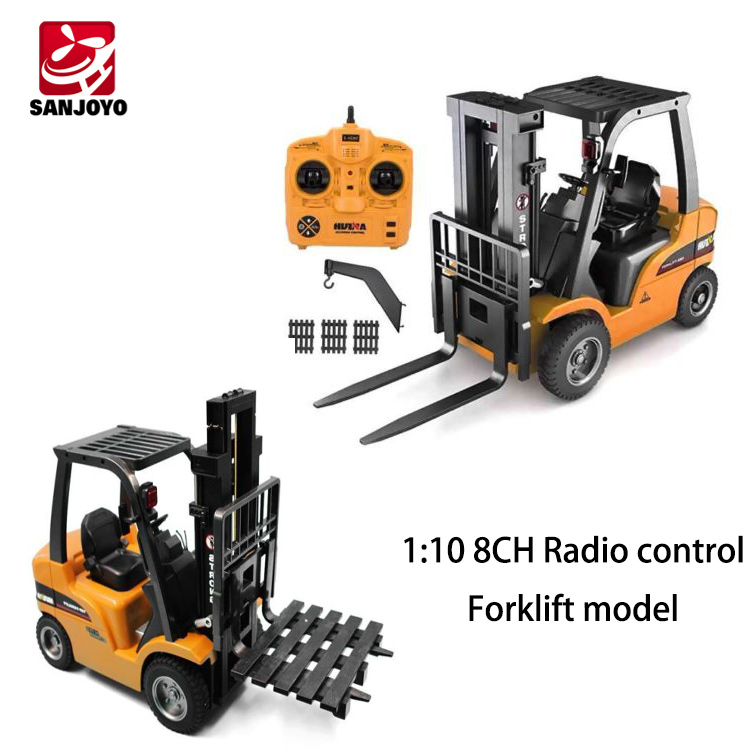 HuiNa Toys 1577 1:10 8CH Radio control forklift model die-cast metal rc truck