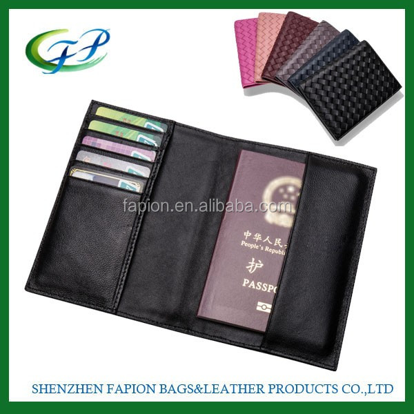Faux Leather Rfid Blocking Debossed Leather Passport Holder Travel ...