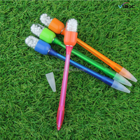 Novelty Knock flashing light ball pen pills pen