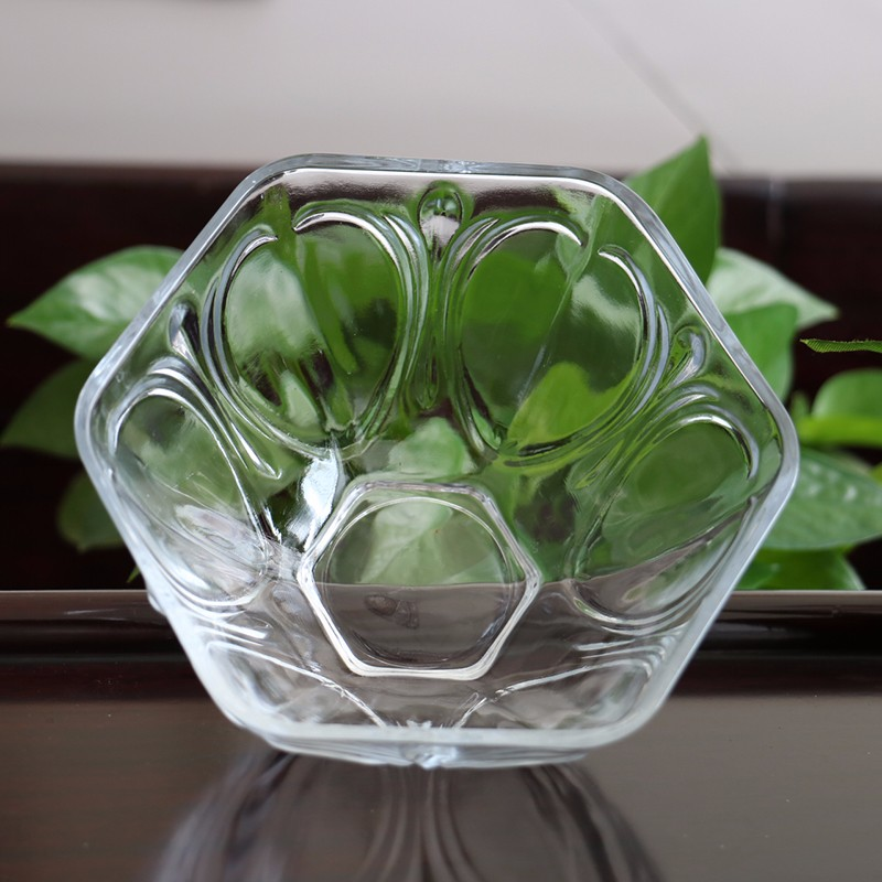 Decorative Glass Product : New style hexagon decorative glass bowl buy